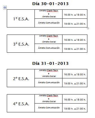 ESA SEMIPRESENCIAL: calendario e horario dos exames finais do 1º cuadrimestre