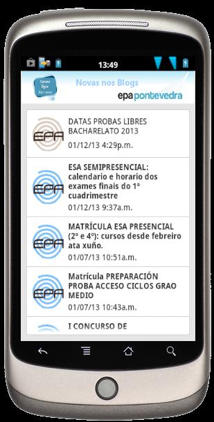 As Novas do Centro EPA no teléfono móvil