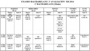 exames 1º bach maña