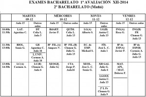 exames 2º bach maña