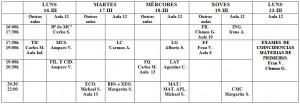 exames 1º Bach tarde