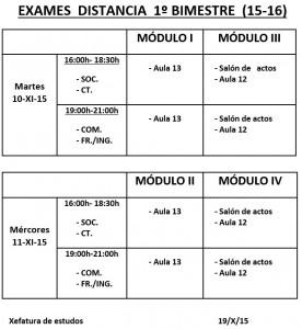Datas e aulas de exames