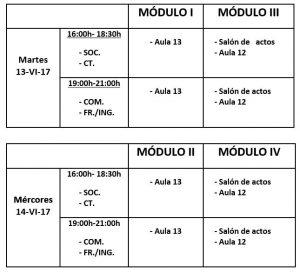 Calendario de exames